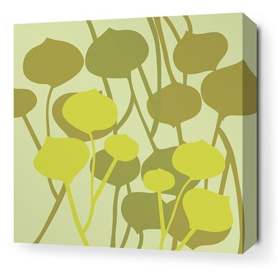 Aequorea Seedling Graphic Art on Canvas in Pale Green