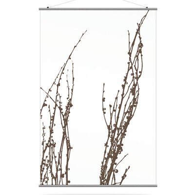 "Inhabit Morning Glory 48"" x 72"" Undergrowth 1 Slat in Chocolate"