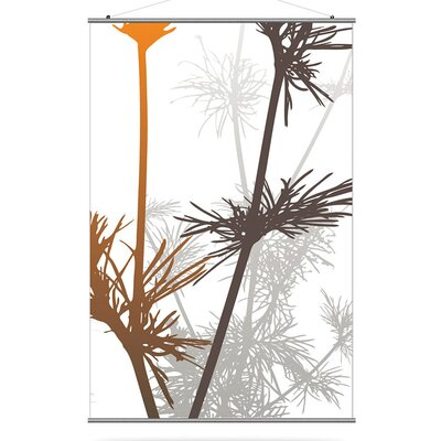 Inhabit Morning Glory Prairie Slat in Rust and Charcoal