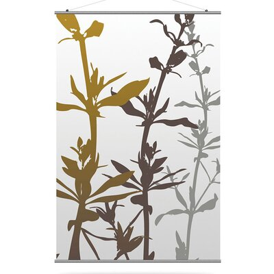 Inhabit Morning Glory Wildflower Slat in Silver and Olive