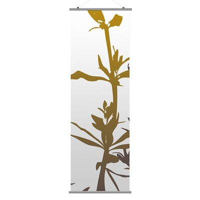 Inhabit Morning Glory Wildflower Slat Wall Hanging