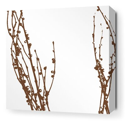 Inhabit Morning Glory Undergrowth Stretched Wall Art in Chocolate