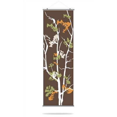 Inhabit Ailanthus Slat Hanging Panel in Chocolate