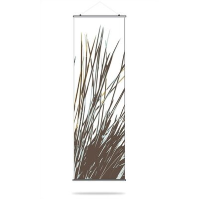 Inhabit Thatch Slat Hanging Panel in Aqua