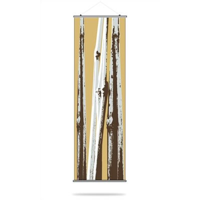 Inhabit Bamboo Slat Hanging Panel in Aqua