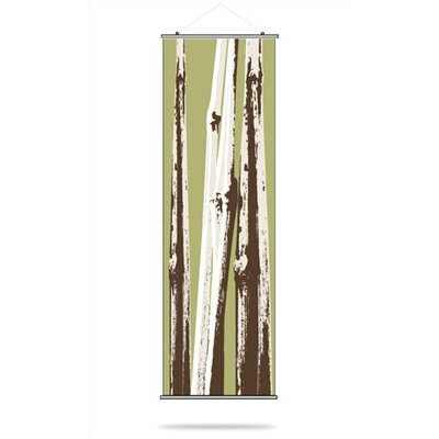 Inhabit Bamboo Slat Hanging Panel in Grass