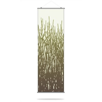 Inhabit Field Grass Slat Hanging Panel in Moss
