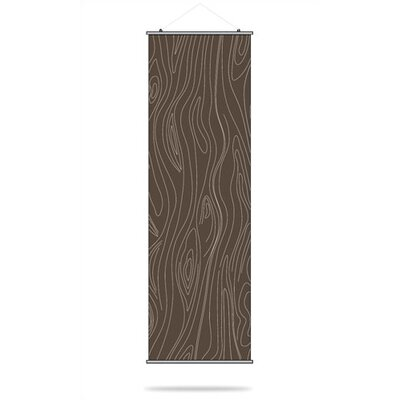 Inhabit Madera Slat Hanging Panel in Chocolate