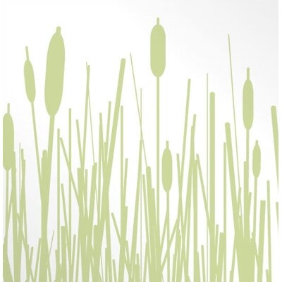 Inhabit Cattails Slat Hanging Panel in Celery