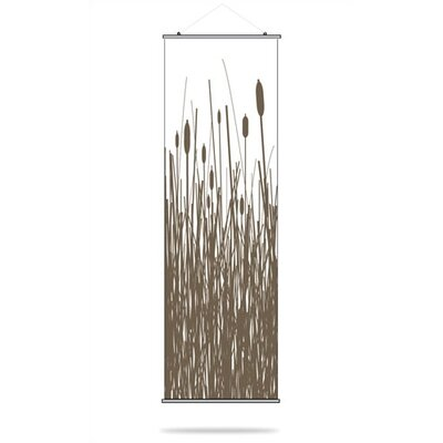 Inhabit Cattails Slat Hanging Panel in Chocolate