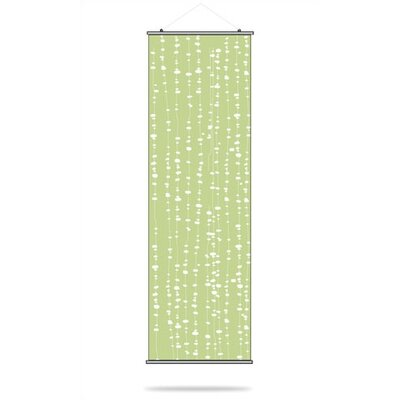 Inhabit Pussy Willows Slat Hanging Panel in Celery