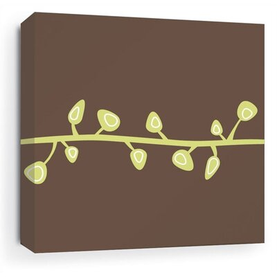 Inhabit Sprout Stretched Wall Art in Chocolate