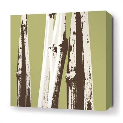 Inhabit Bamboo Stretched Wall Art in Grass