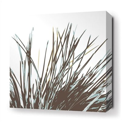 Inhabit Thatch Stretched Wall Art in Aqua
