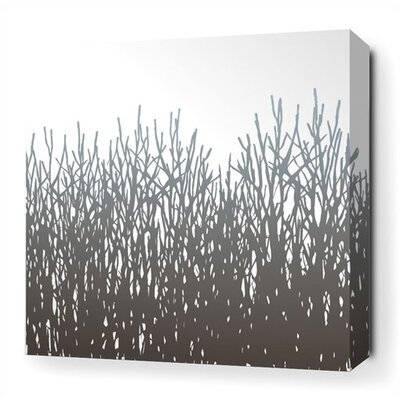 Inhabit Field Grass Stretched Wall Art in Artic Sky