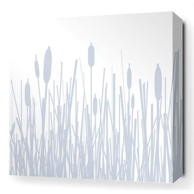 Inhabit Cattails Stretched Wall Art in Ice
