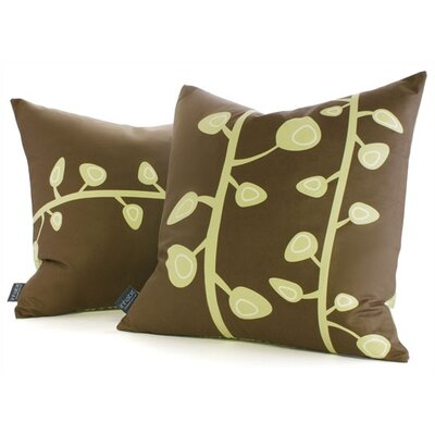 Inhabit Nourish Sprout Suede Throw Pillow