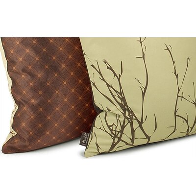 Inhabit Spa Twig Suede  Throw Pillow