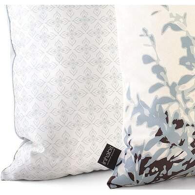 Inhabit Foliage Throw Pillow in Aqua