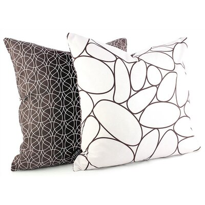 Inhabit Madera River Rock Suede Throw Pillow