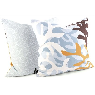 Inhabit Reef Throw Pillow in Aqua