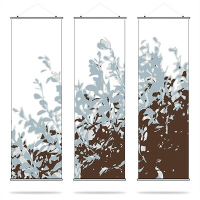Inhabit Foliage Slat Hanging Panel Collection in Aqua