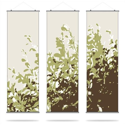 Inhabit Botanicals Foliage Slat 3 Piece Wall Hanging