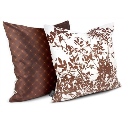 Inhabit Rhythm Brush Sateen Throw Pillow in White