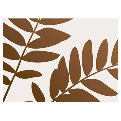 Inhabit Rhythm Leaf Stretched Graphic Art on Canvas