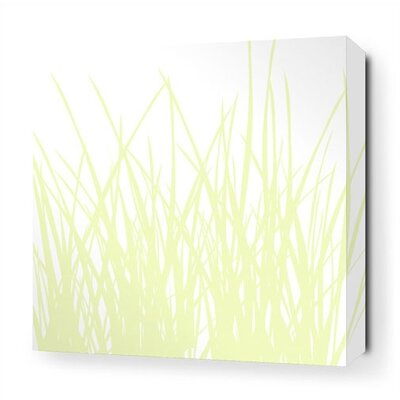 Inhabit Grass Stretched Wall Art in Dew