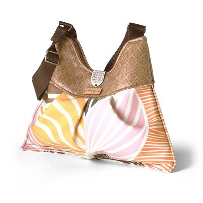 Inhabit Kennedy Leaf Handbag in Blush / Sunshine