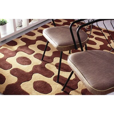 Inhabit Laugh Rug in Chocolate/ Amber