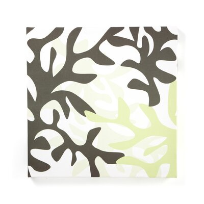 Inhabit Reef Stretched Wall Art in Moss