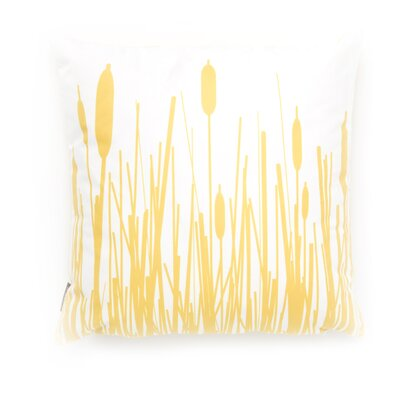 Inhabit Estrella Cattails Suede Throw Pillow