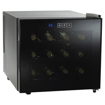 Wine Enthusiast Companies Silent 12 Bottle Touchscreen Wine Refrigerator