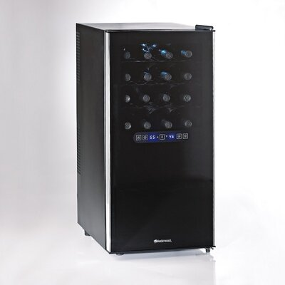 Wine Enthusiast Companies Silent 32 Bottle Dual Zone Touchscreen Wine Refrigerator