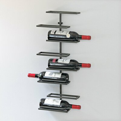 Wine Enthusiast 8 Bottle Wall Mounted Wine Rack