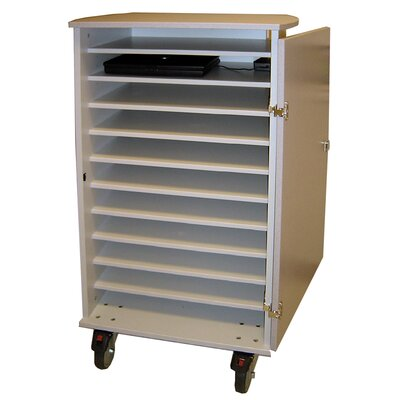 Woodware Furniture 11 Unit Laptop Cart