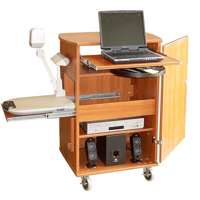 Woodware Furniture Media Swiss Presentation Cart