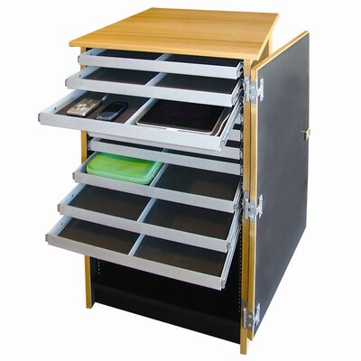 Woodware Furniture 10 - Compartment Infinity Mobile Device Cart
