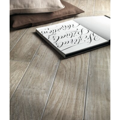 "Lea Ceramiche Vivaldi 24.25"" x 3.25""  Glazed Bullnose Tile Tile Trim in Winter"