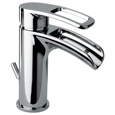 J10 Bath Series Single Loop Handle Bathroom Faucet with Waterfall Spout - 10211WF