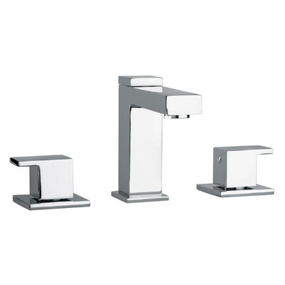 J12 Bath Series Two Lever Handle Widespread Bathroom Faucet with Linear Matched Spout - 1221 ...