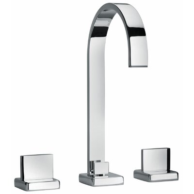 J15 Bath Series Two Lever Handle Widespread Bathroom Faucet with Classic Ribbon Spout - 15214 ...