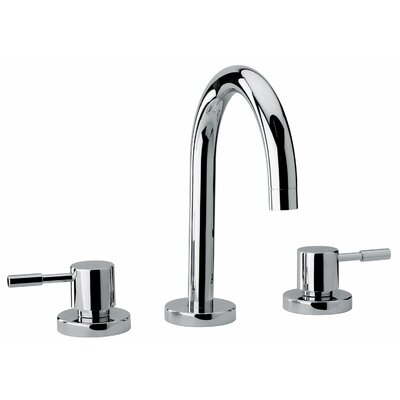 J16 Bath Series Two Lever Handle Widespread Bathroom Faucet with Goose Neck Spout - 1621 ...