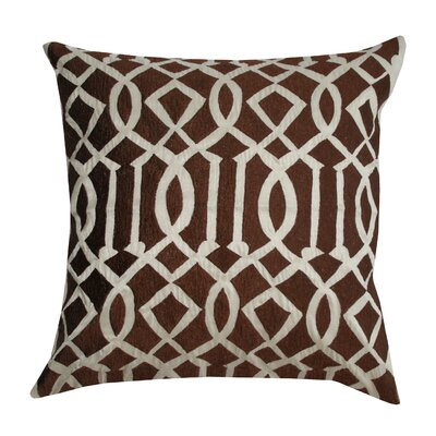 Divine Designs Embroidered Trellis Silk Pillow