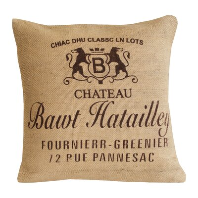 Divine Designs Chateau Jute Cotton Pillow