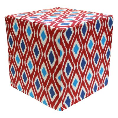 Divine Designs Geo Cotton Cube Ottoman