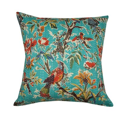 Birdie Kantha Cotton Pillow
