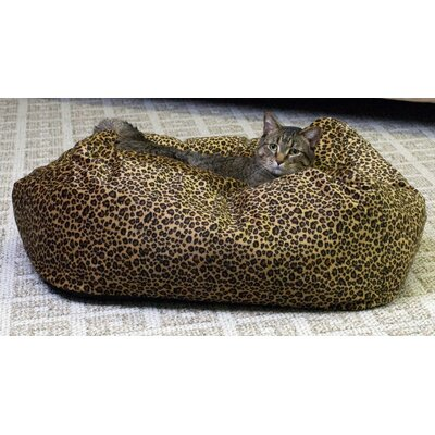 K&H Manufacturing Leopard Cuddle Cube Cat Bed